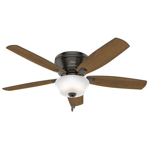 home depot low profile ceiling fans hunter estate winds 56 in indoor noble bronze low profile