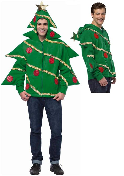 ugly christmas tree holiday sweater funny hoodie