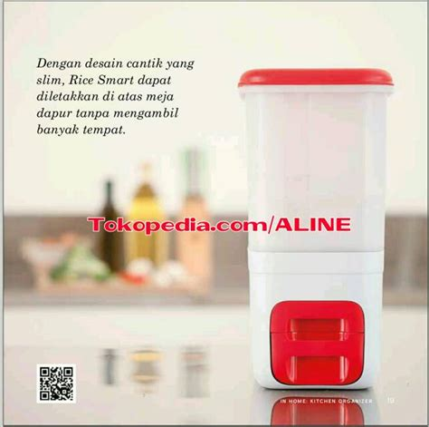 Tempat Beras Tupperware jual tupperware rice dispenser rice smart 10kg