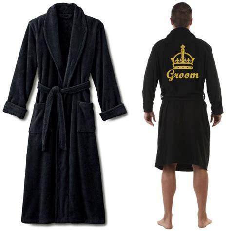 Bathrobe Crown a terry crown and custom name embroidery bathrobe