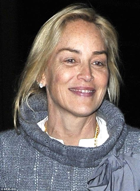 sharon stone lets her natural beauty shine as she jets