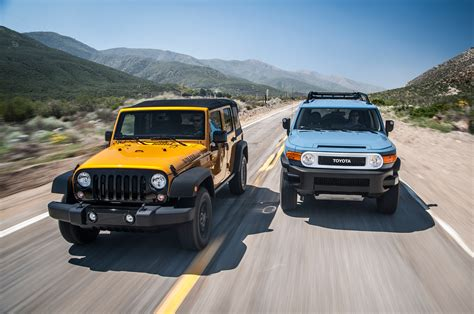jeep wrangler cruiser totd jeep wrangler unlimited or toyota fj cruiser