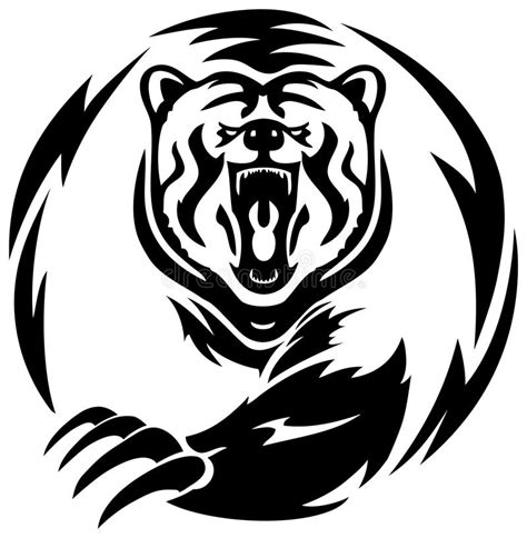 bear logo tattoo dublin big bear tattoo stock illustration image of play tatto