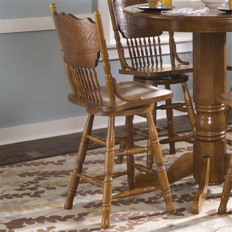 Dining And Bar Stools by Nostalgia Casual Dining Press Back Barstool In Medium Oak Modern Bar Stools And Counter