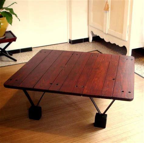 diy pallet table legs diy pallet coffee table with triangular metal legs 99 pallets