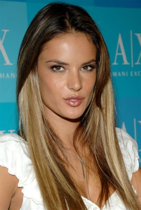 thin hair with ombre 24 alessandra ambrosio hairstyles celebrity alessandra
