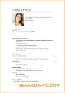 Curriculum Vitae English by Cv In English Example Doc Free Short Cv Model Cv Model