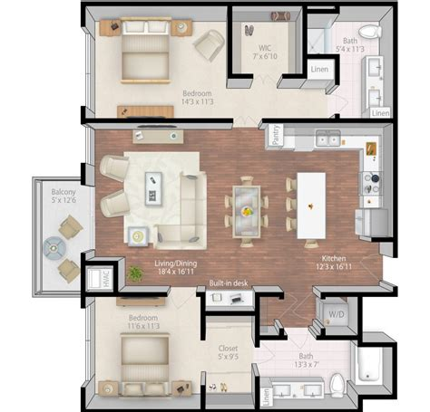 luxury apartment plans extraordinary 90 3 bedroom floor plans 3d decorating