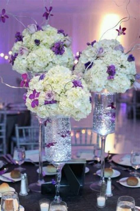 purple and white centerpieces for weddings purple and white centerpieces purple plum lavender