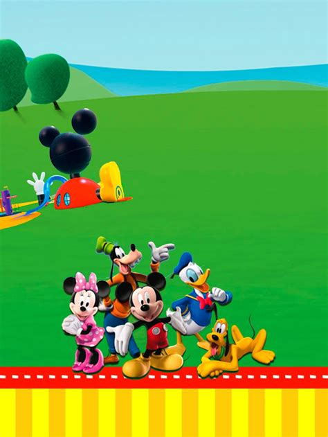 mickey mouse clubhouse templates mickey clubhouse invitations and free printables