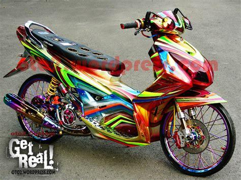 Motor Yamaha Nouvo Z nouvo z medan aura negri gajah putih oto2 s custom