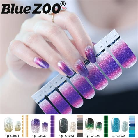 Nail Sticker Water Decal Stiker Kuku Nail 32 1pc gradient color glitter powder stickers nail wraps diy cover nail vinyls water decals