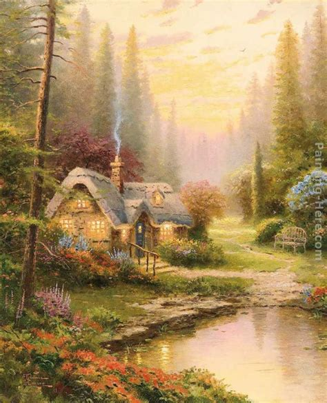 cottage paintings by kinkade kinkade meadowood cottage painting anysize 50