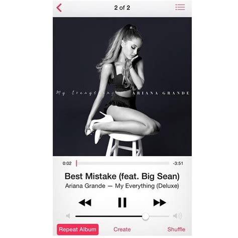 best mistake ariana grande new music ariana grande feat big sean best mistake