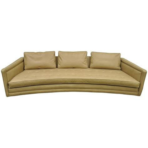 long couches leather long curved harvey probber button tufted leather mid