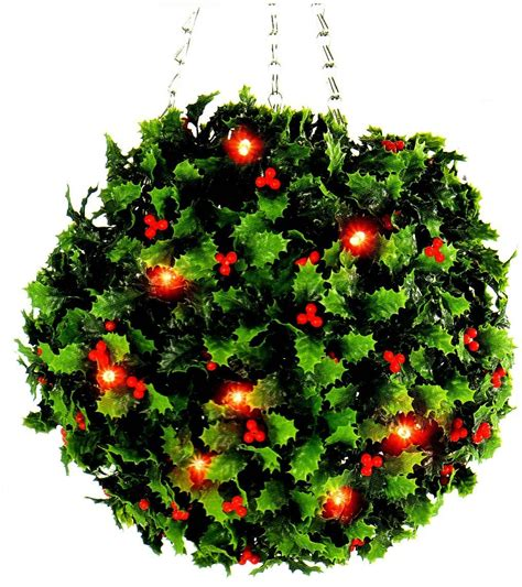 led christmas holly berry lights topiary berry 20 led lights garden outdoor decoration ebay