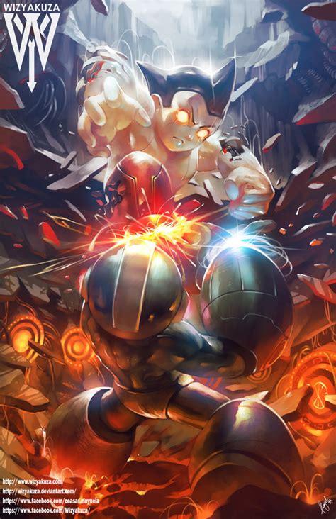 Crossover Sigma megaman vs astro boy by wizyakuza on deviantart