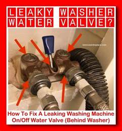 how to fix a leaking washing machine on water valve