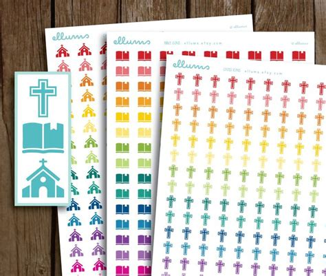 printable bible stickers religious planner stickers printable instant download