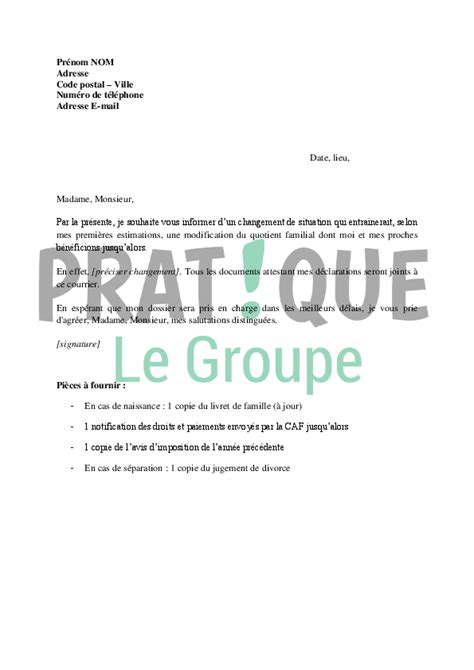 Exemple De Lettre Non Paiement Modele Attestation Quotient Familial Document