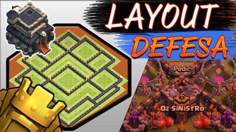 layout troll cv 9 push layout cv9 push troll defesa clash of clans youtube