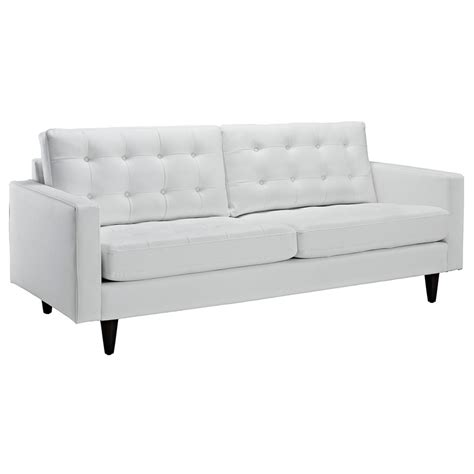 white leather modern sofa enfield modern white leather sofa eurway furniture