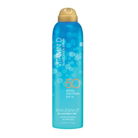 Suncreen Gold Spf 50 raydiant continuous spray spf 50 sunscreen australian