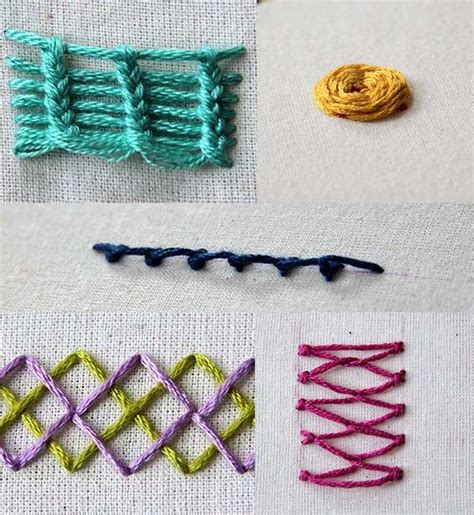Handmade Embroidery Stitches - 5 types of embroidery stitches to add to your repertoire