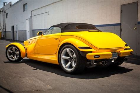 auto air conditioning service 1999 plymouth prowler security system find used 1999 plymouth prowler rare yellow mint condition super clean car fax no reserve in