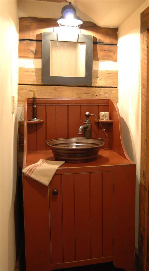 dry sink vanity Bathroom Mediterranean with antique floor
