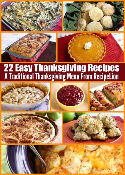 dinner easy menu 78 best images about thanksgiving on
