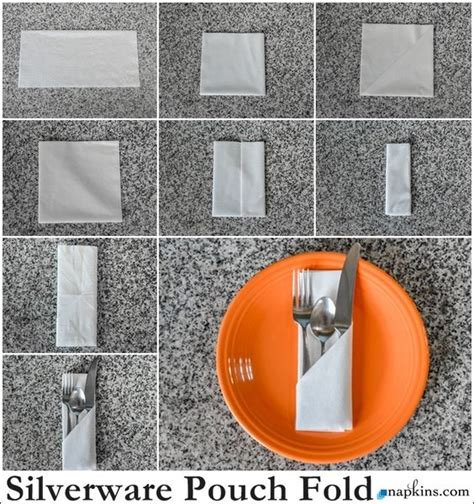 Ways To Fold Paper Napkins With Silverware - napkins napkin folding and the front on