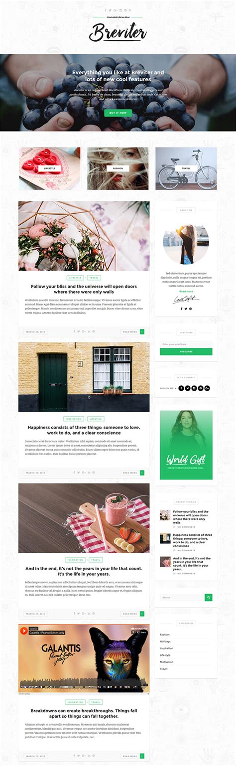 blog layout template psd breviter creative blog psd template designhooks
