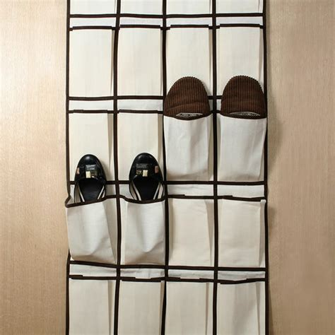 Door Hanging Rack by 24 Pocket Shoe Organiser Rack For Wall Door Hanging