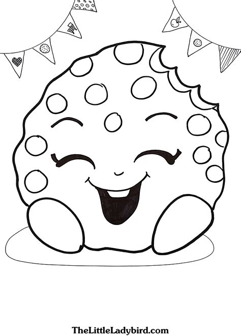 coloring sheets shopkins kookie cookie coloring page collections 7 shopkins coloring pages