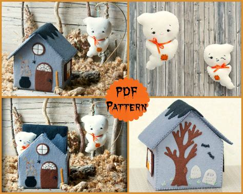 felt ghost pattern pdf pattern ghost house softie pattern soft felt toy