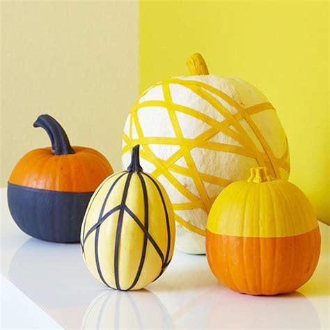 pumpkin decoration with masking tape decoist