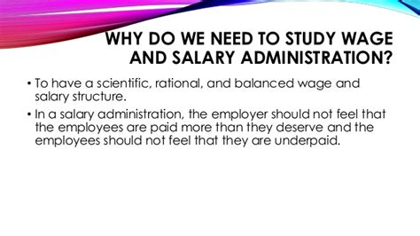 salaries and wages wages and salaries administration