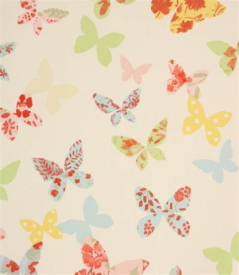 Butterfly Upholstery Fabric by Butterfly Fabric Chintz Just Fabrics