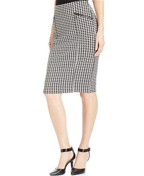 alfani houndstooth pencil skirt only at macy s skirts