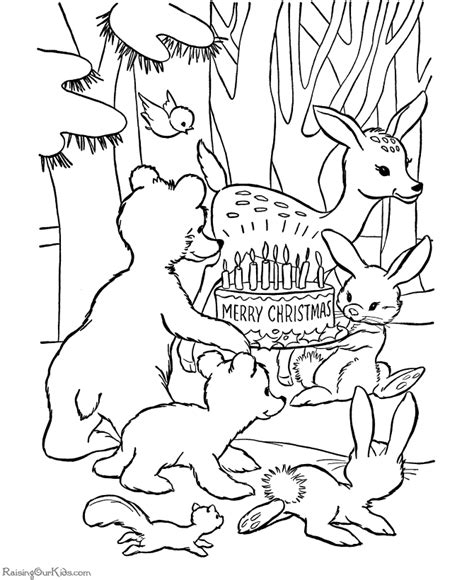 christmas coloring pages with animals animal christmas coloring pages printables