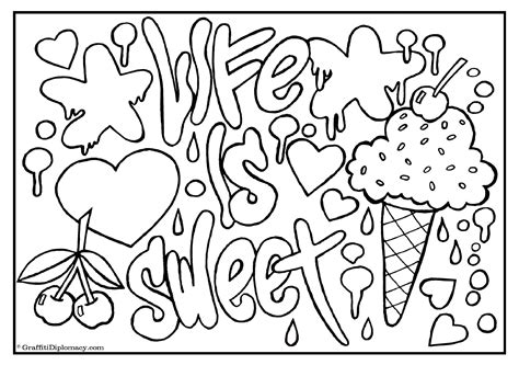famous graffiti coloring pages inspirational quotes coloring pages quotesgram middle