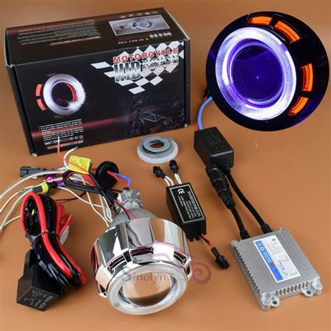 motorcycle halo headlights halo kits projector hid kits aliexpress com buy new motorcycle headlight hid bi xenon