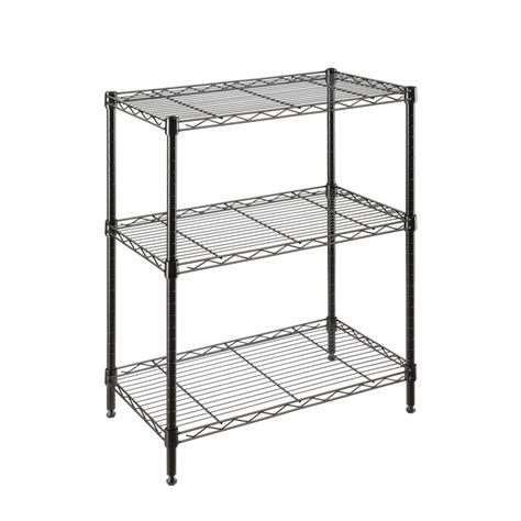 lowes metal shelves shop style selections 30 in h x 24 in w x 14 in d 3 tier steel freestanding shelving unit at