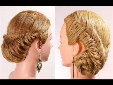 braided hairstyles tutorials youtube fishtail braid hairstyle tutorial braided updo youtube