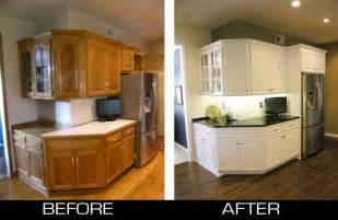 Refinish oak kitchen cabinets to white ask home design