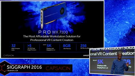 Vga Radeon Firepro Wx 5100 8 Gb amd announces radeon pro wx series most affordable pro solutions