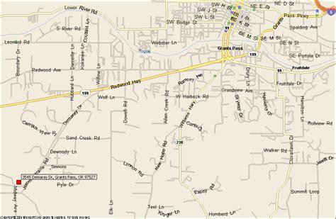 the map grants pass oregon grants pass oregon united states
