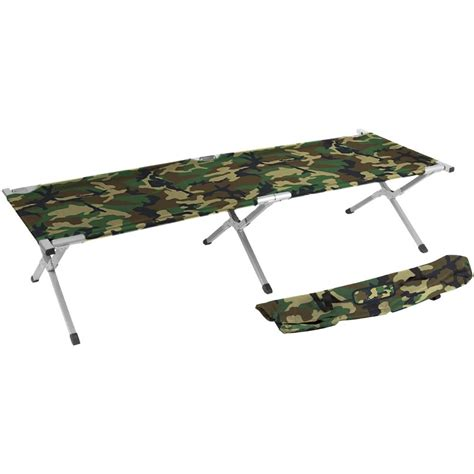 Folding Cot Bed Trademark Innovations 75 In Portable Folding Cing Bed And Cot 260 Lbs Capacity Camo C