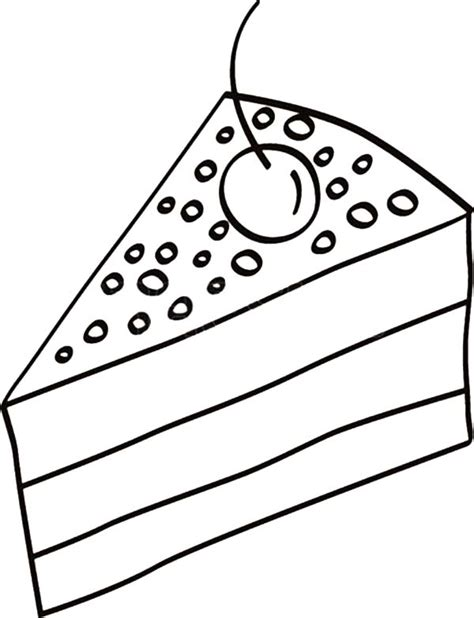 cake slice coloring page cake slice with cherry on top coloring pages cake slice